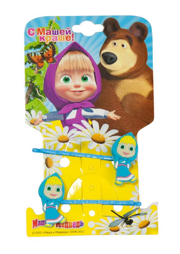 Маша и медведь Заколка-Невидимка Маша цвет голубой 2шт331668