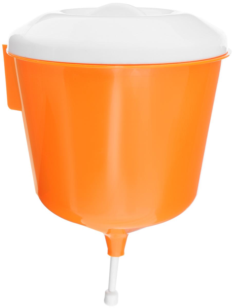 Рукомойник Альтернатива Дачник, цвет: оранжевый, белый, 3 лМ1157_оранжевый, белыйРукомойник Альтернатива Дачник изготовлен из пластика. Он предназначен для умывания в саду или на даче, а также отлично впишется в окружающую обстановку. Петли обеспечивают вертикальное крепление рукомойника с помощью шурупов (в комплект не входят). Рукомойник оснащен крышкой, которая предотвращает попадание мусора. Рукомойник Альтернатива Дачник надежный и удобный в использовании. Диаметр рукомойника (по верхнему краю): 19 см. Высота рукомойника (с учетом крышки): 30 см.