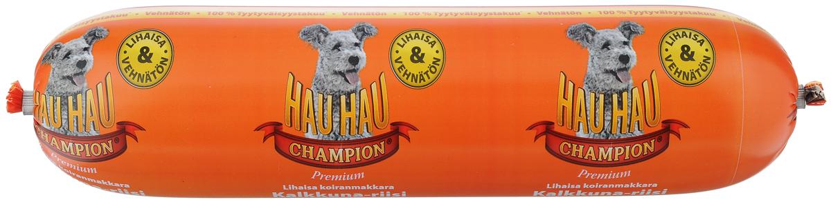 Колбаса для собак Hau-Hau, из индейки с рисом, 800 г81887Колбаса для собак Hau-Hau содержит большое количество мяса и подходит для собак любых размеров. Колбаса изготовлена из свежего мяса, содержание которого не менее 95%. Как связующее вещество используется мелкомолотый рис, продукт также обогащен витаминами и минералами. Колбаса не содержит пшеницу, пищевые красители, консерванты, кровь, рыбу и свинину. До вскрытия упаковки можно хранить при комнатной температуре. Открытый продукт следует хранить в холодильнике в течение 2-3 дней.