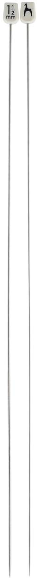 Спицы Pony, из стали, прямые, диаметр 1,5 мм, длина 35 см, 2 шт35303Легкие и прочные спицы Pony, изготовленные из стали, предназначены для вязания широких деталей изделия, например, спинки, переда, рукавов. Пластиковые ограничители препятствуют соскальзыванию петель. Вы сможете вязать для себя и делать подарки друзьям. Работа, сделанная своими руками, долго будет радовать вас и ваших близких.