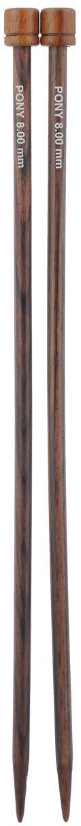 Спицы Pony, из розового дерева, прямые, диаметр 8,0 мм, длина 35 см, 2 шт33817Спицы для вязания Pony изготовлены из розового дерева. Поверхность спиц имеет гладкое покрытие, благодаря этому петли легко скользят по спицам. Спицы предназначены для вязания широких деталей изделия (спинки, переда, рукавов). Спицы из розового дерева Pony подходят для людей с аллергией на металл. Изделия легкие и прочные. Вы сможете вязать для себя и делать подарки друзьям. Рукоделие всегда считалось изысканным, благородным делом. Работа, сделанная своими руками, долго будет радовать вас и ваших близких.