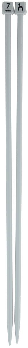 Спицы Pony, прямые, диаметр 7 мм, длина 40 см, 2 шт34265Легкие и прочные спицы Pony, изготовленные из пластика, предназначены для вязания широких деталей изделия, например, спинки, переда, рукавов. Ограничители препятствуют соскальзыванию петель. Спицы из пластика подходят людям с аллергией на металлы. Вы сможете вязать для себя и делать подарки друзьям. Рукоделие всегда считалось изысканным, благородным делом. Работа, сделанная своими руками, долго будет радовать вас и ваших близких.