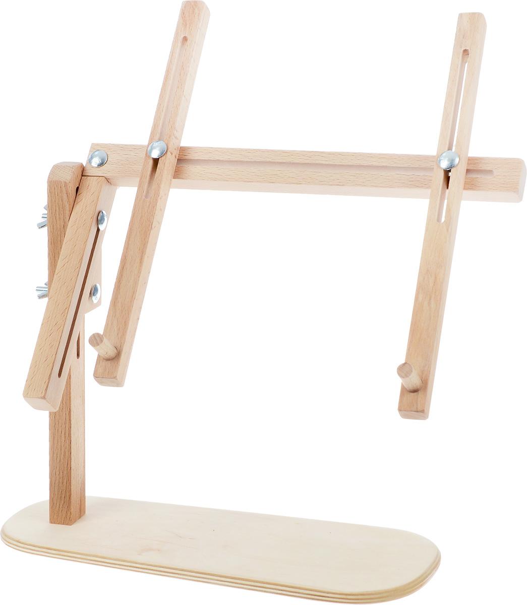 Подставка для рамок Бос универсальная015BOSОбеспечивает комфорт вышивальщицы, сидящей в кресле, на диване или стуле, легко переносится, занимает мало места. Может использоваться и в настольном варианте. Изготовлены из бука. Пяльцы в комплект не входят. Материал: дерево, бук
