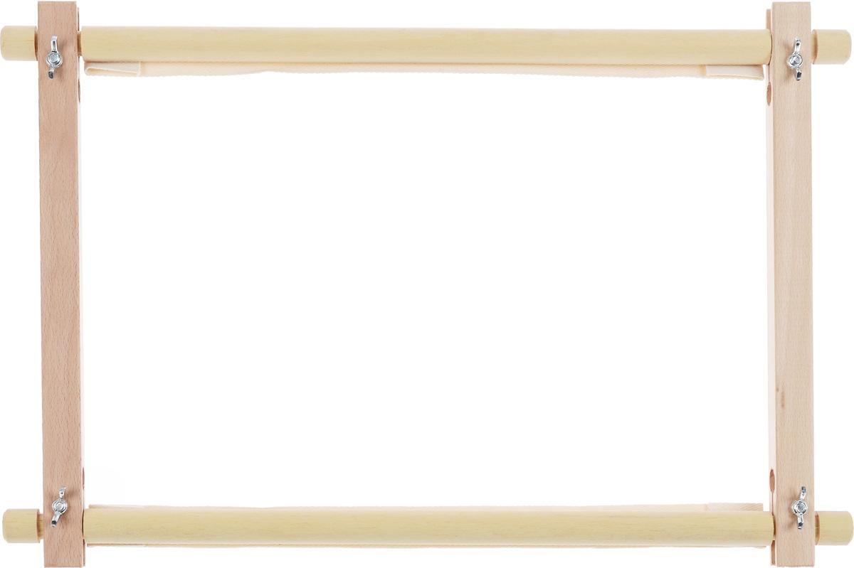 Пяльцы-рамка Elbesee, с вращающимися планками, 38 х 30 смROT1512Пяльцы-рамка Elbesee, выполненные из дерева, предназначены для вышивания гобеленов, картин из бисера, работ в стиле ковровой техники и другого. Изделие можно держать в руках или использовать в сочетании с универсальной подставкой, держателем пялец, напольным стендом и прочими подставками. Вращающиеся планки удобны в работе для прокручивания натянутой канвы, ткани.
