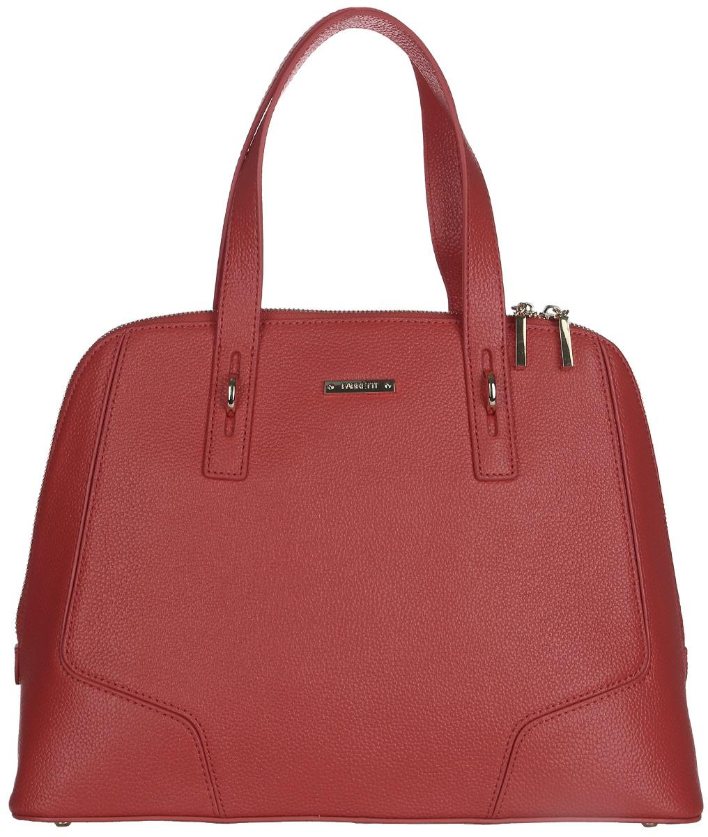 Сумка женская Fabretti, цвет: красный. N2546N2546-redСтильная женская сумка Fabretti выполнена из натуральной кожи с фактурным тиснением. Изделие содержит одно большое отделение, которое закрывается на застежку-молнию с двумя бегунками. Внутри расположено два накладных кармашка для мелочей и два врезных кармана на молнии. Снаружи, на задней стороне сумки, расположен врезной карман на застежке-молнии. Сумка оснащена удобными ручками и плечевым ремнем, который можно регулировать по длине. Дно сумки дополнено металлическими ножками. Оригинальный аксессуар позволит вам завершить образ и быть неотразимой.