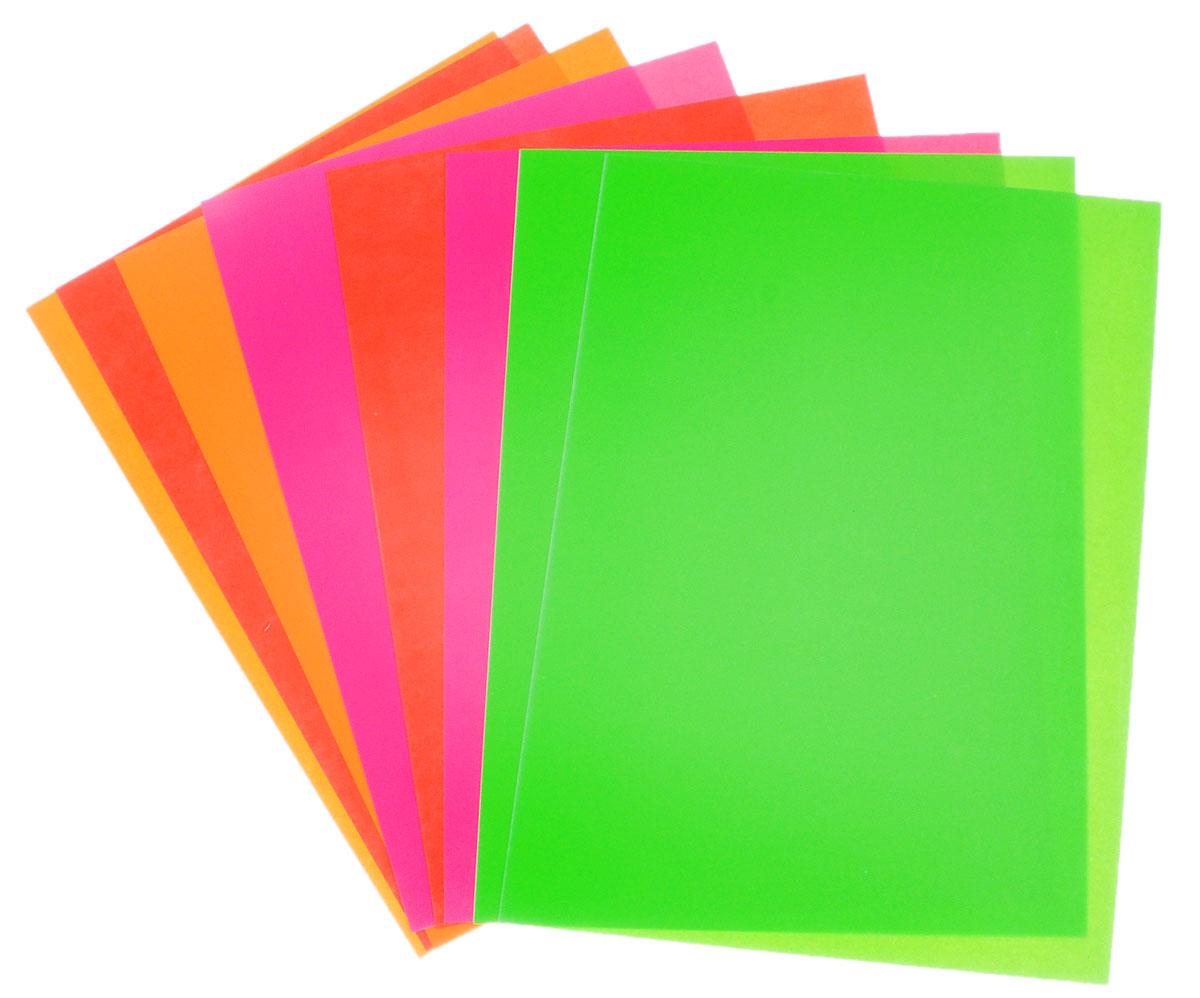 Апплика Цветной картон флюоресцентный Два самолета 8 листов 4 цвета