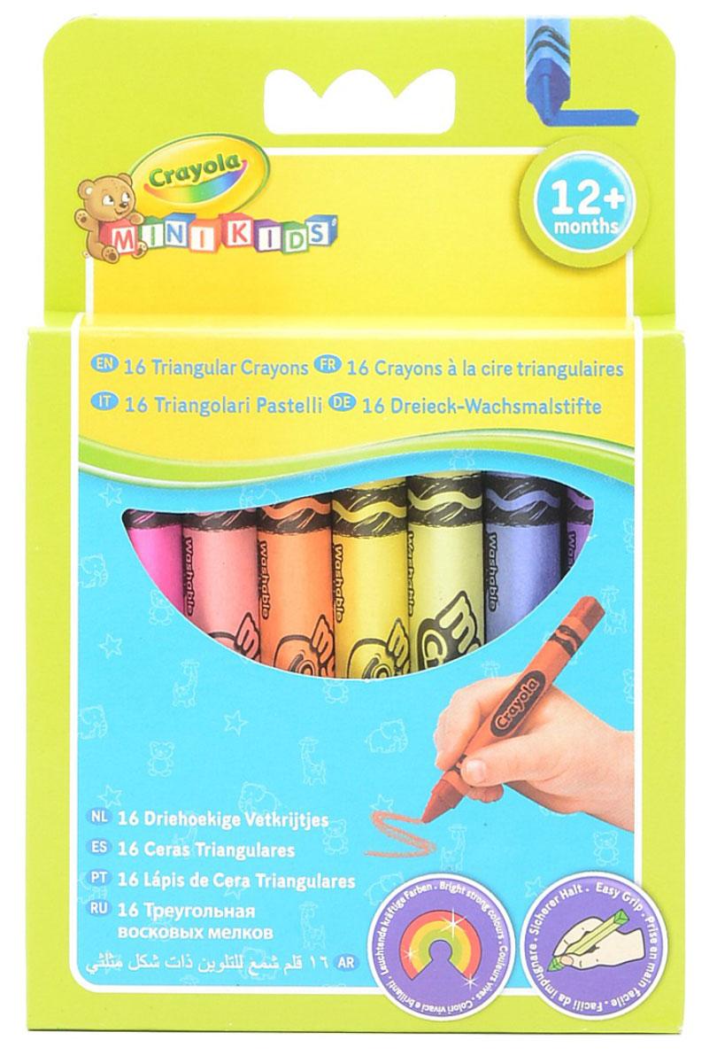 Треугольный восковой мелок Crayola, смываемый, 16 шт52-016TТреугольный восковой мелок Crayola, смываемый - чудесный набор восковых мелков с разнообразной палитрой цветов. Удобная треугольная форма научит ребенка правильно держать мелок в руке. А если малыш случайно испачкается, то Вы без особого труда смоете следы от мелка теплой водой с мылом.
