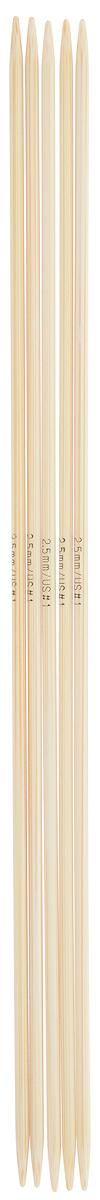 Спицы чулочные Addi, бамбуковые, прямые, диаметр 2,5 мм, длина 20 см, 5 шт501-7/2.5-020Спицы для вязания Addi, изготовленные из бамбука, не имеют ограничителей и предназначены для вязания бейки горловины, чулок, шапочек, варежек и носков. Поверхность изделия обрабатывается специальным, высокотехнологичным японским воском, который закрывает поры бамбука и делает поверхность абсолютно гладкой. Спицы прочные, легкие, гладкие и удобные в использовании. Спицы Addi идеальны для людей с аллергией на металл и их едва слышно при вязании. Вы сможете вязать для себя и делать подарки друзьям. Рукоделие всегда считалось изысканным, благородным делом. Работа, сделанная своими руками, долго будет радовать вас и ваших близких.