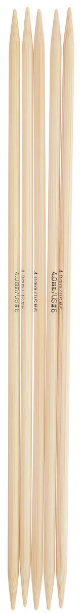 Спицы чулочные Addi, бамбуковые, прямые, диаметр 4 мм, длина 20 см, 5 шт501-7/4-020Спицы для вязания Addi, изготовленные из бамбука, не имеют ограничителей и предназначены для вязания бейки горловины, чулок, шапочек, варежек и носков. Поверхность изделия обрабатывается специальным, высокотехнологичным японским воском, который закрывает поры бамбука и делает поверхность абсолютно гладкой. Спицы прочные, легкие, гладкие и удобные в использовании. Спицы Addi идеальны для людей с аллергией на металл и их едва слышно при вязании. Вы сможете вязать для себя и делать подарки друзьям. Рукоделие всегда считалось изысканным, благородным делом. Работа, сделанная своими руками, долго будет радовать вас и ваших близких.