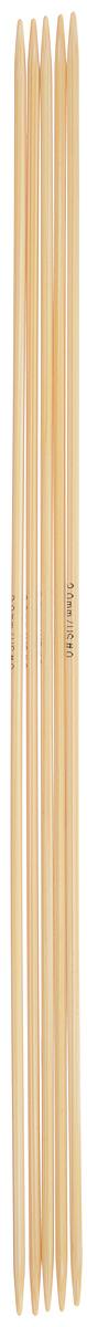 Спицы чулочные Addi, бамбуковые, прямые, диаметр 2 мм, длина 20 см, 5 шт501-7/2-020Спицы для вязания Addi, изготовленные из бамбука, не имеют ограничителей и предназначены для вязания бейки горловины, чулок, шапочек, варежек и носков. Поверхность изделия обрабатывается специальным, высокотехнологичным японским воском, который закрывает поры бамбука и делает поверхность абсолютно гладкой. Спицы прочные, легкие, гладкие и удобные в использовании. Спицы Addi идеальны для людей с аллергией на металл и их едва слышно при вязании. Вы сможете вязать для себя и делать подарки друзьям. Рукоделие всегда считалось изысканным, благородным делом. Работа, сделанная своими руками, долго будет радовать вас и ваших близких.