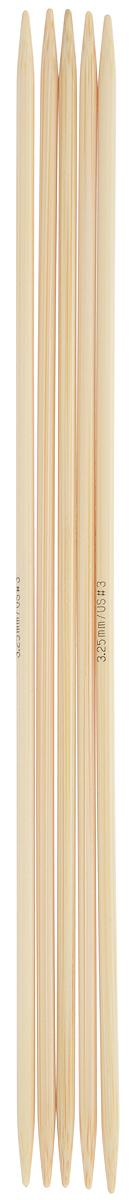 Спицы чулочные Addi, бамбуковые, прямые, диаметр 3,25 мм, длина 20 см, 5 шт501-7/3.25-020Спицы для вязания Addi, изготовленные из бамбука, не имеют ограничителей и предназначены для вязания бейки горловины, чулок, шапочек, варежек и носков. Поверхность изделия обрабатывается специальным, высокотехнологичным японским воском, который закрывает поры бамбука и делает поверхность абсолютно гладкой. Спицы прочные, легкие, гладкие и удобные в использовании. Спицы Addi идеальны для людей с аллергией на металл и их едва слышно при вязании. Вы сможете вязать для себя и делать подарки друзьям. Рукоделие всегда считалось изысканным, благородным делом. Работа, сделанная своими руками, долго будет радовать вас и ваших близких.