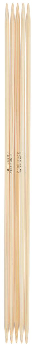 Спицы чулочные Addi, бамбуковые, прямые, диаметр 3 мм, длина 20 см, 5 шт501-7/3.0-020Спицы для вязания Addi, изготовленные из бамбука, не имеют ограничителей и предназначены для вязания бейки горловины, чулок, шапочек, варежек и носков. Поверхность изделия обрабатывается специальным, высокотехнологичным японским воском, который закрывает поры бамбука и делает поверхность абсолютно гладкой. Спицы прочные, легкие, гладкие и удобные в использовании. Спицы Addi идеальны для людей с аллергией на металл и их едва слышно при вязании. Вы сможете вязать для себя и делать подарки друзьям. Рукоделие всегда считалось изысканным, благородным делом. Работа, сделанная своими руками, долго будет радовать вас и ваших близких.