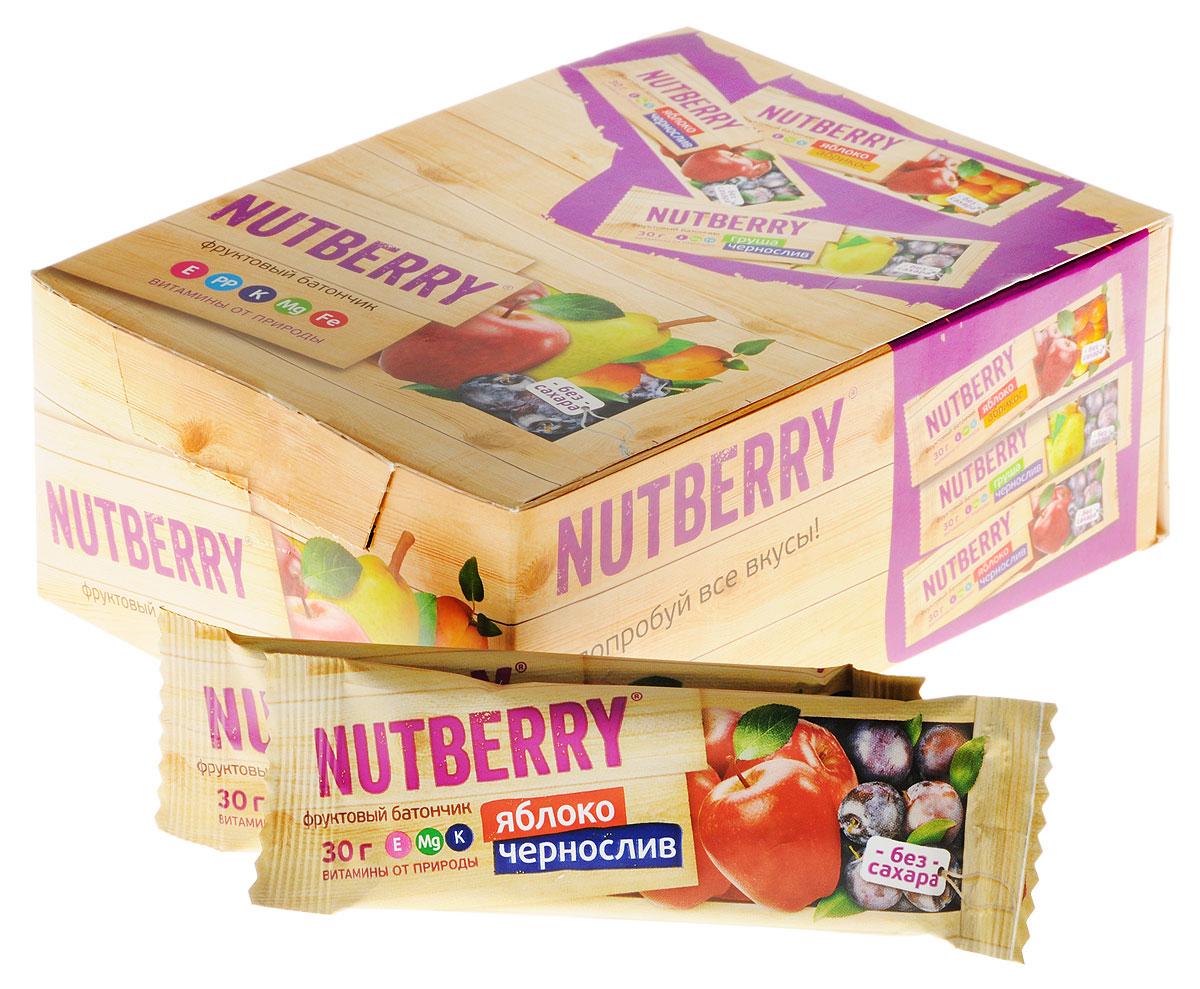 Nutberry Витафрут батончик фруктовый с яблоком и черносливом, 30 г (24 шт)