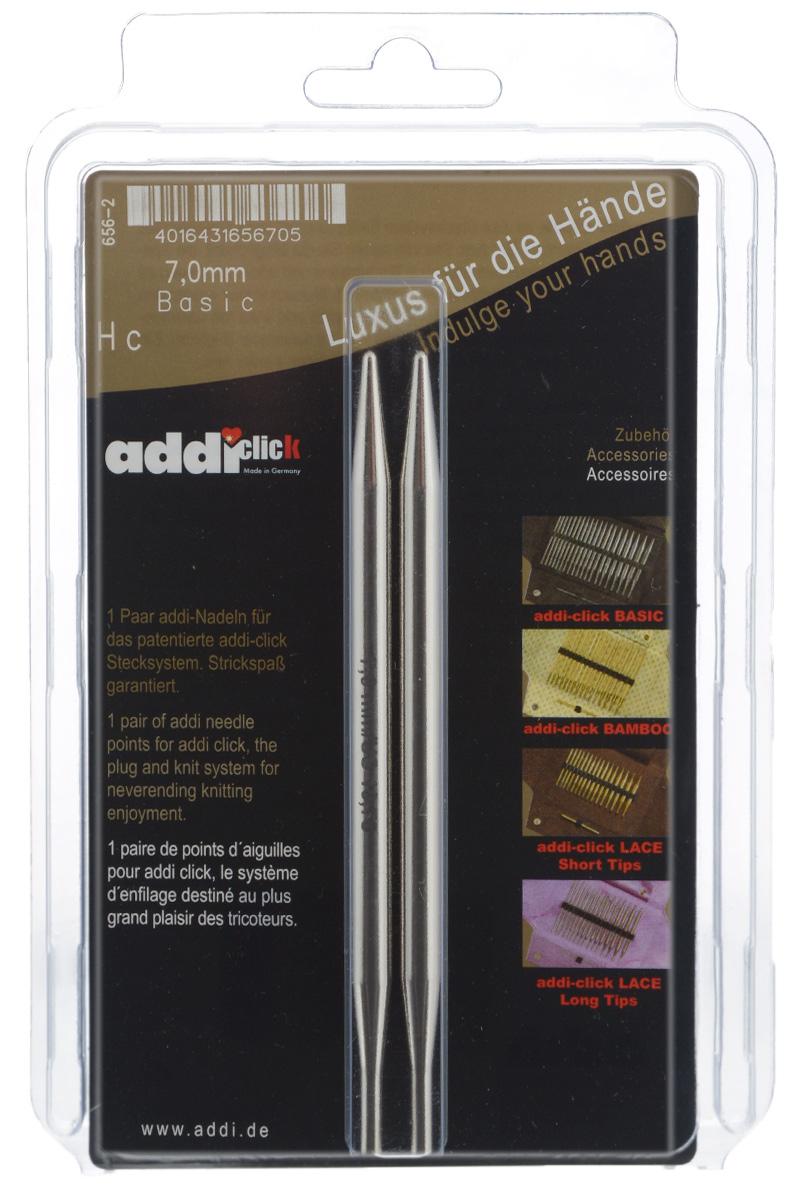 Спицы сменные Addi Click, из латуни с никелевым покрытием, диаметр 7 мм, 2 шт656-2/7-000Сменные спицы Addi Click, изготовленные из никелированной латуни с удлиненным кончиком, имеют гладкую поверхность . Известная на весь мир и единственная система смены спиц Click позволяет просто и удобно защелкивать их, не оставляя абсолютно никакого зазора между спицей и леской. Не нужно ввинчивать и использовать ключ. Также система Click позволяет работать с двумя спицами различной толщины. Со спицами Addi Click. Lace вы сможете вязать для себя и делать подарки друзьям. Рукоделие всегда считалось изысканным, благородным делом. Работа, сделанная своими руками, долго будет радовать вас и ваших близких. Длина спицы: 12,8 см.