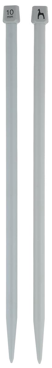 Спицы Pony, прямые, диаметр 10 мм, длина 30 см, 2 шт32269Легкие и прочные спицы Pony, изготовленные из пластика, предназначены для вязания широких деталей изделия, например, спинки, переда, рукавов. Ограничители препятствуют соскальзыванию петель. Спицы из пластика подходят людям с аллергией на металлы. Вы сможете вязать для себя и делать подарки друзьям. Рукоделие всегда считалось изысканным, благородным делом. Работа, сделанная своими руками, долго будет радовать вас и ваших близких.