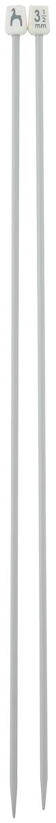 Спицы Pony, прямые, диаметр 3,5 мм, длина 35 см, 2 шт33207Легкие и прочные спицы Pony, изготовленные из алюминия, предназначены для вязания широких деталей изделия, например, спинки, переда, рукавов. Ограничители, выполненные из пластика, препятствуют соскальзыванию петель. Вы сможете вязать для себя и делать подарки друзьям. Рукоделие всегда считалось изысканным, благородным делом. Работа, сделанная своими руками, долго будет радовать вас и ваших близких.