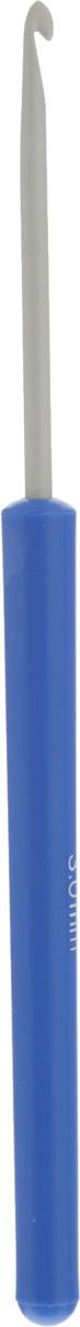 Крючок для вязания Pony, цвет: серый, синий, диаметр 3 мм, длина 14 см46203Крючок Pony выполнен из алюминия и оснащен пластиковой ручкой. Крючок предназначен для вязания и плетения из ниток, ручного изготовления полотна. Идеально гладкая головка и стержень крючка обеспечивают равномерное скольжение петель. Эргономичная, приятная на ощупь рукоятка обеспечивает удобное и безопасное вязание без усталости. Вязание крючком применяют как для изготовления одежды целиком, так и отделочных элементов одежды или украшений. Вы сможете вязать для себя и делать подарки друзьям. Рукоделие всегда считалось изысканным, благородным делом. Работа, сделанная своими руками, долго будет радовать вас и ваших близких. Подарок, выполненный собственноручно, станет самым ценным для друзей и знакомых.