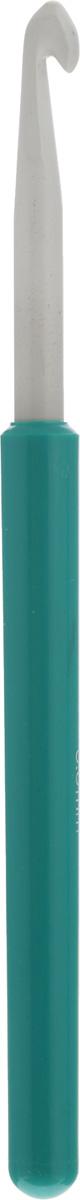 Крючок для вязания Pony, цвет: серый, зеленый, диаметр 6 мм, длина 14 см46209Крючок Pony выполнен из алюминия и оснащен пластиковой ручкой. Крючок предназначен для вязания и плетения из ниток, ручного изготовления полотна. Идеально гладкая головка и стержень крючка обеспечивают равномерное скольжение петель. Эргономичная, приятная на ощупь рукоятка обеспечивает удобное и безопасное вязание без усталости. Вязание крючком применяют как для изготовления одежды целиком, так и отделочных элементов одежды или украшений. Вы сможете вязать для себя и делать подарки друзьям. Рукоделие всегда считалось изысканным, благородным делом. Работа, сделанная своими руками, долго будет радовать вас и ваших близких. Подарок, выполненный собственноручно, станет самым ценным для друзей и знакомых.