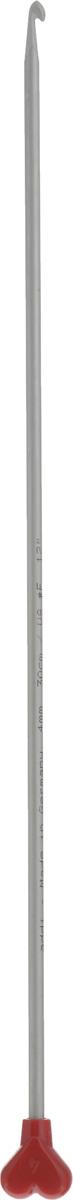 Крючок для вязания Addi Тунисский, диаметр 4 мм, длина 30 см262-7/4-30Крючок Addi Тунисский выполнен из очень легкого алюминия и идеально подойдет для тунисского вязания. Благодаря этой технике можно получить очень красивые по текстуре, плотные и в то же время мягкие вязаные вещи. Этот крючок длиннее обычного и на конце у него имеется стоппер, который позволяет удерживать петли и не дает им спуститься с крючка. Вязание крючком применяют как для изготовления одежды целиком, так и отделочных элементов одежды или украшений. Вы сможете вязать для себя и делать подарки друзьям. Работа, сделанная своими руками, долго будет радовать вас и ваших близких.
