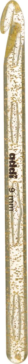 Крючок для вязания Addi, диаметр 9 мм, длина 15 см445-7/9-15Крючок для вязания Addi выполнен из высококачественного пластика с золотистыми частицами. Гладкая поверхность позволяет ему виртуозно скользить внутрь петель и обратно. При вязке не выскальзывает. На изделие нанесены фирменная надпись и размеры в миллиметрах стойкой краской. Крючок предназначен для вязания и плетения из ниток, ручного изготовления полотна. Его применяют как для изготовления одежды целиком, так и отделочных элементов одежды или украшений. Вы сможете вязать для себя и делать подарки друзьям. Работа, сделанная своими руками, долго будет радовать вас и ваших близких.