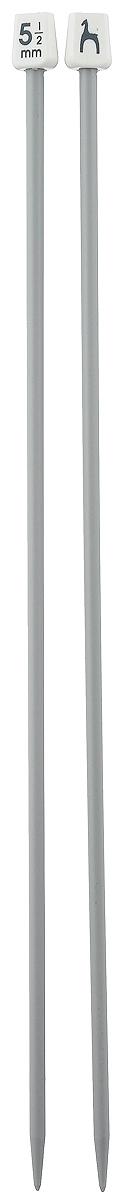 PONY Спицы прямые 5,50 мм/ 35 см, пластик, 2 шт. 3326233262Спицы вязальные прямые. Пластик. Длина 35 см, диаметр 5,50 мм. Упаковка чехол.