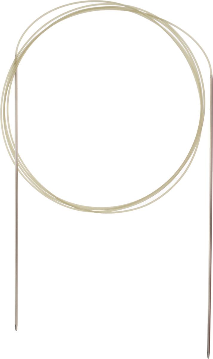 Спицы Addi, круговые, экстратонкие, диаметр 1,5 мм, длина 150 см114-7/1.5-150Спицы для вязания Addi, изготовленные из высококачественной никелированной латуни, имеют закругленные кончики и скреплены гибким нейлоновым шнуром. Изделия гладкие, прочные и легкие, поэтому руки абсолютно не устают при вязании. Круговые спицы наиболее удобны для вязания тонкой пряжей. Вы сможете вязать для себя, делать подарки друзьям. Работа, сделанная своими руками, долго будет радовать вас и ваших близких.