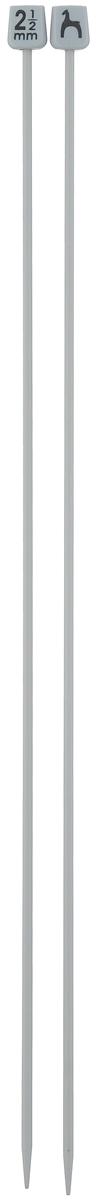 Спицы Pony, прямые, диаметр 2,5 мм, длина 30 см, 2 шт32203Легкие и прочные спицы Pony, изготовленные из алюминия, предназначены для вязания широких деталей изделия, например, спинки, переда, рукавов. Ограничители, выполненные из пластика, препятствуют соскальзыванию петель. Вы сможете вязать для себя и делать подарки друзьям. Рукоделие всегда считалось изысканным, благородным делом. Работа, сделанная своими руками, долго будет радовать вас и ваших близких.