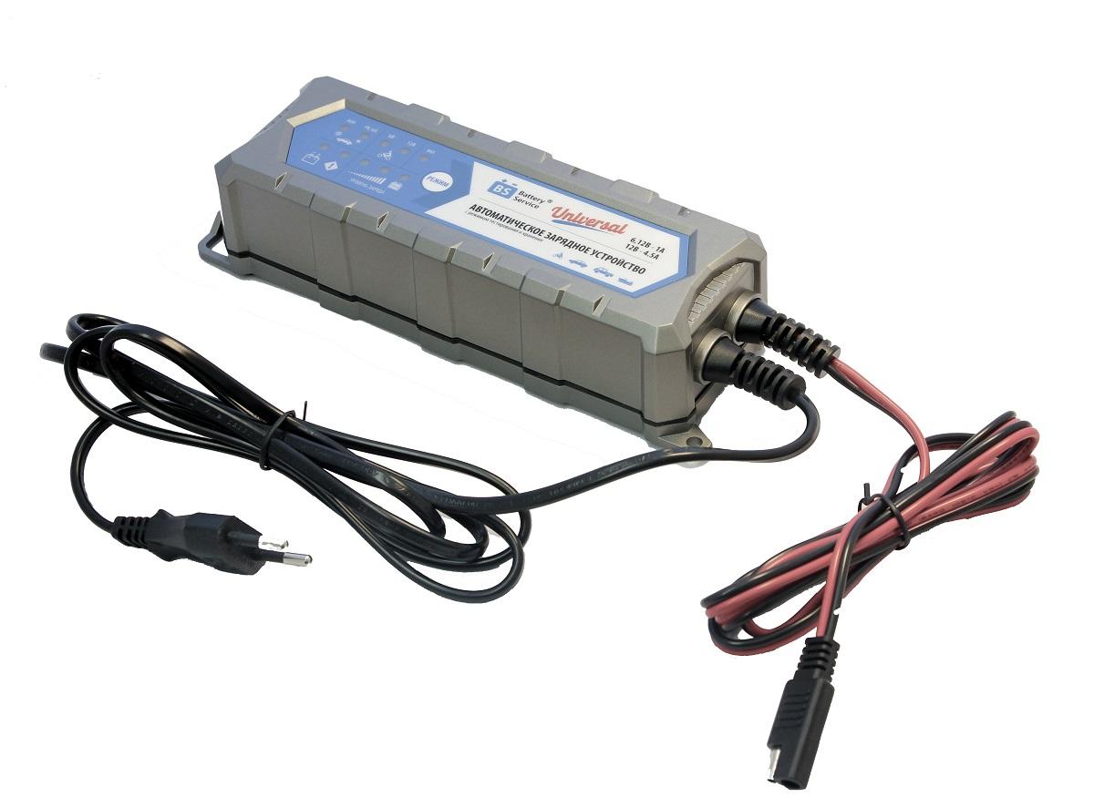 Зарядное устройство Battery Service Universal. PL-C004PPL-C004PМногоступенчатое зарядное устройство Battery Service Universal с режимами тестирования, восстановления глубокоразряженных аккумуляторных батарей, десульфатации и хранения. Интеллектуальное управление микропроцессором. Заряжает все типы 6В и 12В свинцово-кислотных аккумуляторных батарей, в т.ч. AGM, GEL. Защита от короткого замыкания, переполюсовки, перегрева. Гарантия 2 года. Пыле и влагозащищенный корпус IP65. Universal рекомендуется для АКБ до 120 Ач. Ток зарядки 6В/12В - 1,0А и 12В - 4,5А. Восстановление АКБ разряженной до 4В. Температурный режим -20...+40С. В комплект устройства входят аксессуары - кольцевой разъем постоянного подключения и зажимы типа крокодил. Совместимо с аксессуарами сторонних производителей с разъемом SAE.