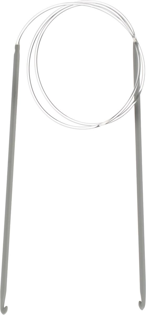 PONY Крючки вязальные тунисские на леске 3,50 мм/ 80 см, алюминий, 2 шт. 5630756307Крючки вязальные тунисские. На леске. Алюминий. Длина 80,0 см, диаметр 3,50 мм. Чехол.