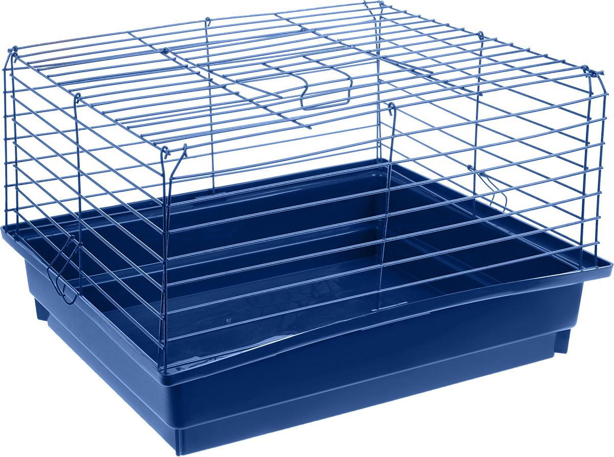 Клетка для кролика ЗооМарк, цвет: синий поддон, синяя решетка, 60 х 40 х 35 см620_синийКлассическая клетка ЗооМарк со сплошным дном станет уединенным личным пространством и уютным домиком для кролика. Изделие выполнено из металла и пластика. Клетка надежно закрывается на защелки. Легко чистится. Для более удобной транспортировки клетку можно сложить.