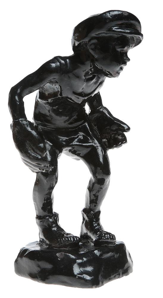 """Статуэтка """"Вратарь"""". Чугун, литье, покраска. СССР, вторая половина XX века"""