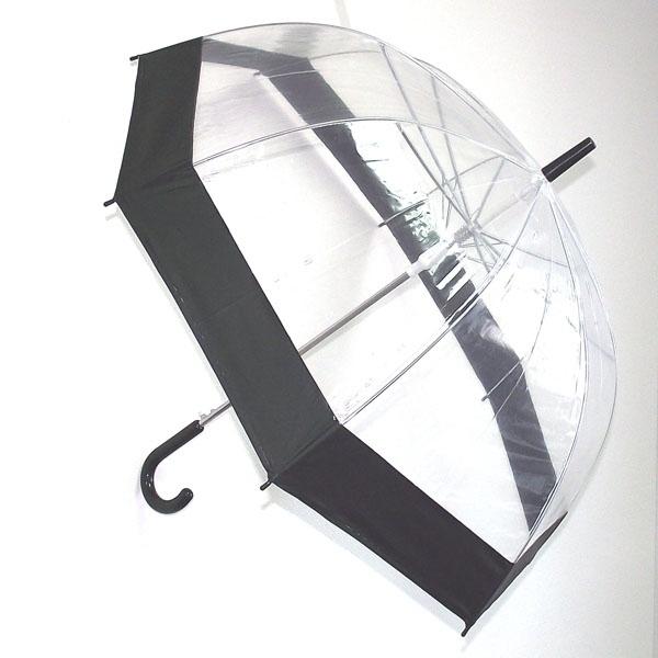 Зонт женский Эврика Прозрачный купол, цвет: прозрачный, черный. 91668 ( 91668 )