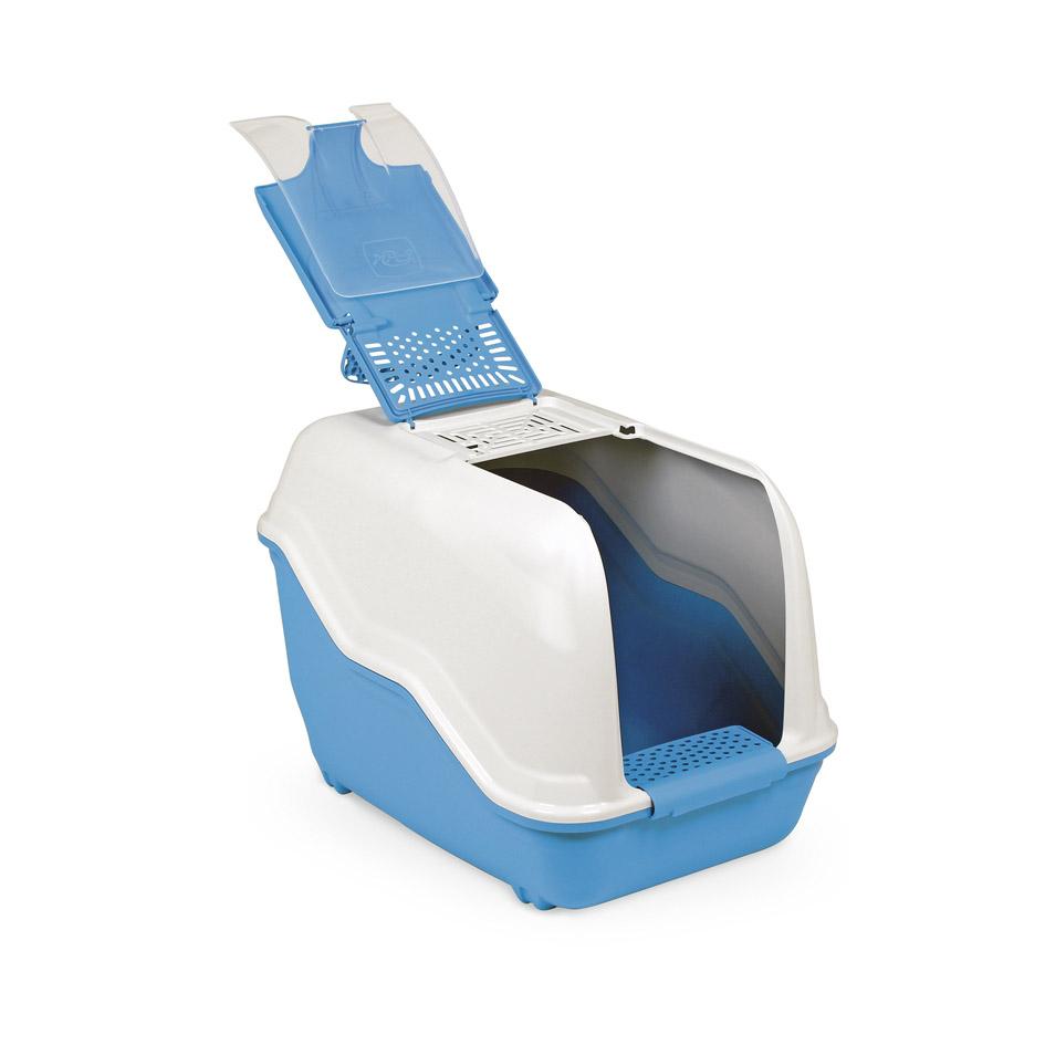 Био-туалет для животных MPS Netta, с совком, цвет: голубой, белый, 54 х 39 х 40 смS07110103Пластиковый био-туалет поможет защитить дом от неприятных запахов и придется по нраву даже самым привередливым питомцам. В отличие от обычных лотков био-туалет MPS Netta имеет специальный фильтр, который быстро нейтрализует неприятные запахи, дверцу, через которую питомец легко попадает внутрь, а также совок для уборки. Совок удобно закреплен на внутренней стороне крыши туалета. Специальный широкий бортик, на который питомец может вставать, поможет сохранить его лапки чистыми и сухими. А наличие ручки облегает процесс транспортировки. На крыше туалета имеется отсек, через который удобно проводить уборку туалета. Легко собирается и разбирается. Предназначен для содержания кошек и небольших собак. С био-туалетом MPS Netta ваш питомец всегда будет чувствовать себя комфортно, а вам больше не придется по несколько раз в день убирать лоток. Фильтра хватает надолго! Длина совка: 27 см. Размер фильтра: 13 х 10 см.