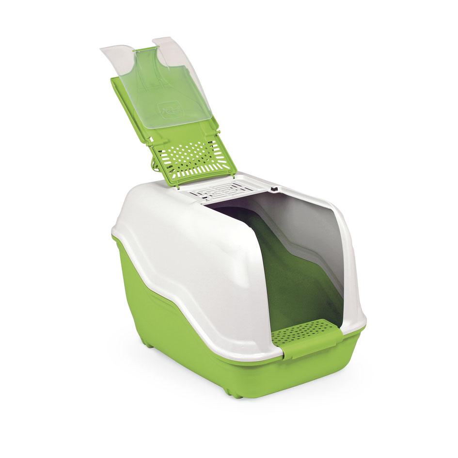 Био-туалет MPS Netta, с совком, цвет: белый, салатовый, 54 х 39 х 40 смS07110107Пластиковый био-туалет поможет защитить дом от неприятных запахов и придется по нраву даже самым привередливым питомцам. В отличие от обычных лотков био-туалет Netta имеет специальный фильтр, который быстро нейтрализует неприятные запахи, дверцу, через которую питомец легко попадает внутрь, а также совок для уборки. Совок удобно закреплен на внутренней стороне крыши туалета. А наличие ручки облегает процесс транспортировки. На крыше туалета имеется отсек, через который удобно проводить уборку туалета. С био-туалетом Netta ваш питомец всегда будет чувствовать себя комфортно, а вам больше не придется по несколько раз в день убирать лоток. Фильтра хватает надолго!
