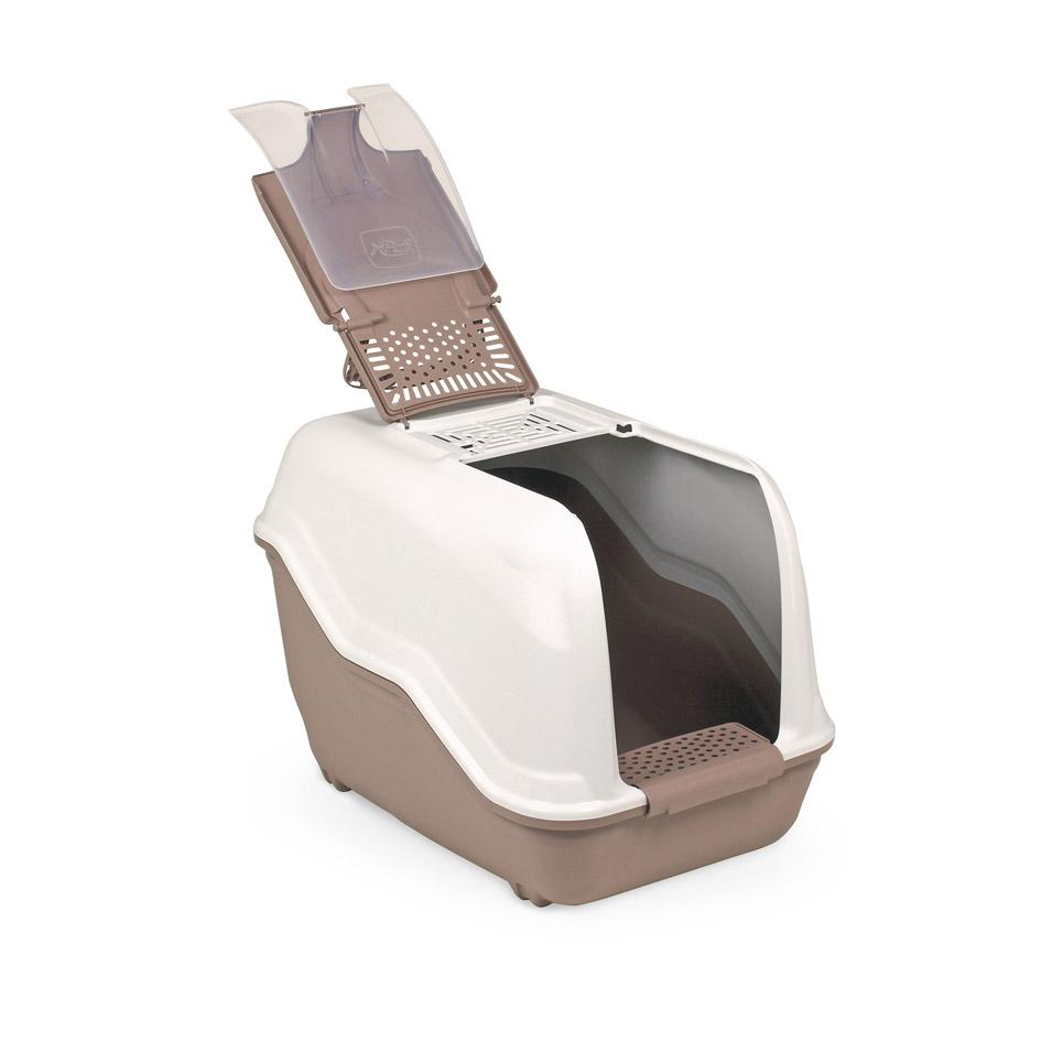 Био-туалет MPS Netta, с совком, 54х39х40 см, цвет: бежево-розовыйS07110117_бежево-розовыйПластиковый био-туалет поможет защитить дом от неприятных запахов и придется по нраву даже самым привередливым питомцам. В отличие от обычных лотков био-туалет Netta имеет специальный фильтр, который быстро нейтрализует неприятные запахи, дверцу, через которую питомец легко попадает внутрь, а также совок для уборки. Совок удобно закреплен на внутренней стороне крыши туалета. А наличие ручки облегает процесс транспортировки. На крыше туалета имеется отсек, через который удобно проводить уборку туалета. С био-туалетом Netta ваш питомец всегда будет чувствовать себя комфортно, а вам больше не придется по несколько раз в день убирать лоток. Фильтра хватает надолго!