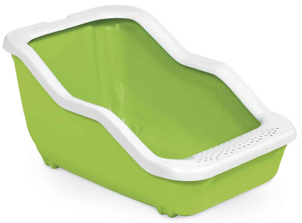 Туалет-лоток MPS Netta Open, с рамкой, 54х39х29 см, цвет: салатовыйS08100107Туалет-лоток Netta - лучшее решение для содержания кошек и небольших собак. Современный и высококачественный пластик не впитывает неприятные запахи, которые так не любят животные, а также существенно упрощает процедуру уборки туалета - легко моется и быстро сохнет. Специальные широкие бортики, на которые питомец может встать, помогают сохранить его лапки чистыми и сухими.
