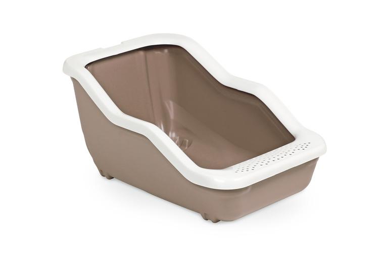 Туалет-лоток MPS Netta Open, с рамкой, 54х39х29 см, цвет: коричневыйS08100117Туалет-лоток Netta - лучшее решение для содержания кошек и небольших собак. Современный и высококачественный пластик не впитывает неприятные запахи, которые так не любят животные, а также существенно упрощает процедуру уборки туалета - легко моется и быстро сохнет. Специальные широкие бортики, на которые питомец может встать, помогают сохранить его лапки чистыми и сухими.