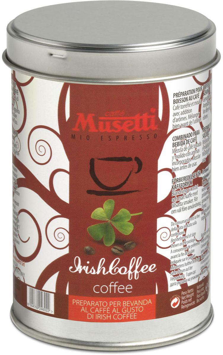Musetti кофе молотый ароматизированный Айриш, 125 г8004769246022Кофе молотый ароматизированный Musetti Айриш - смесь жареного и молотого кофе с добавлением ароматизаторов. Перед использованием хорошо перемешать.