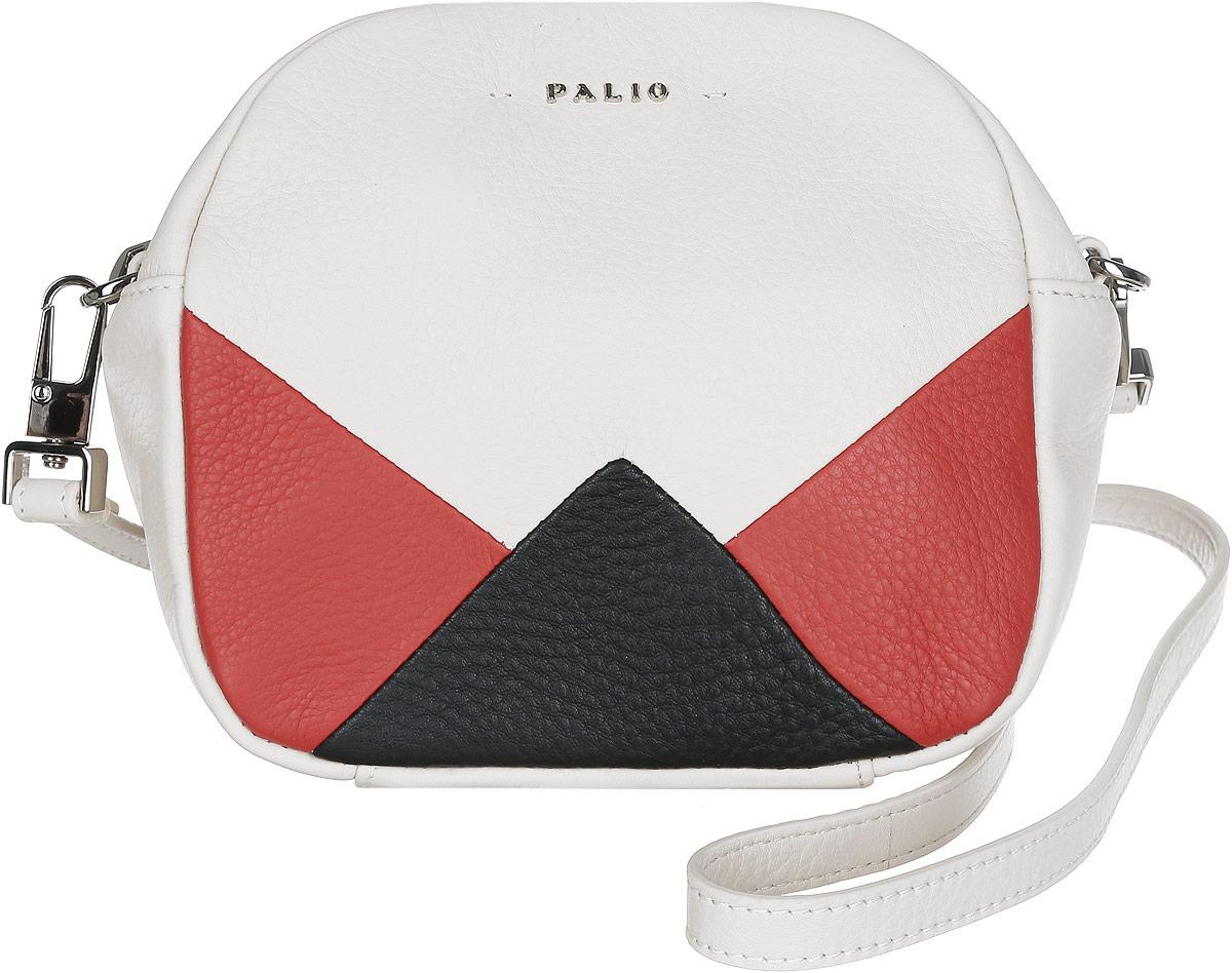 Сумка кросс-боди женская Palio, цвет: бежевый, черный, красный. 14413A-W1-112/35314413A-W1-112/353 whiteСтильная женская сумка кросс-боди Palio выполнена из натуральной кожи зернистой фактуры, оформлена логотипом бренда и контрастными вставками геометрической формы. Изделие состоит из одного отделения, закрывающегося на пластиковую застежку-молнию и дополнительно на скрытый магнит. Внутри расположены врезной карман на молнии и один накладной открытый кармашек для мелочей или телефона. На тыльной стороне сумки расположен врезной карман на молнии. Сумка оснащена съемным плечевым ремнем, регулируемым по длине. Прилагается фирменный текстильный чехол для хранения изделия. Оригинальный аксессуар позволит вам завершить образ и быть неотразимой.