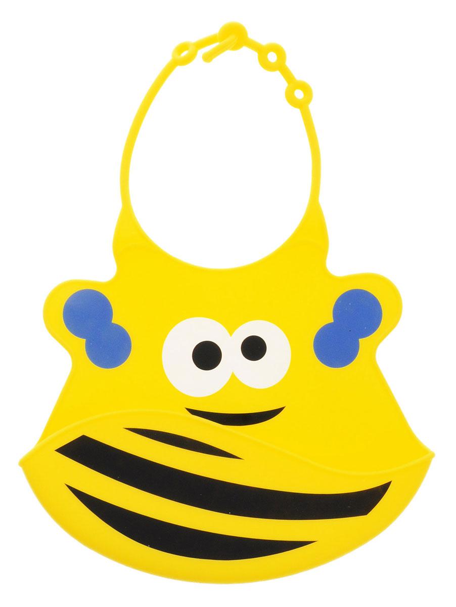 BabyOno Нагрудник цвет желтый