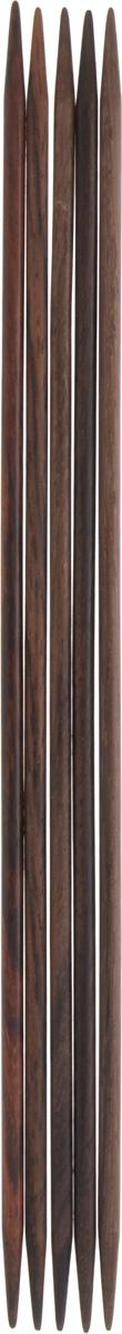 Спицы чулочные Pony, деревянные, прямые, диаметр 3,5 мм, длина 20 см, 5 шт36808-02Спицы для вязания Pony, изготовленные из розового дерева, не имеют ограничителей и предназначены для вязания бейки горловины, чулок, шапочек, варежек и носков. Они прочные, легкие, гладкие и удобные в использовании. Кончики спиц закругленные. Вы сможете вязать для себя и делать подарки друзьям. Рукоделие всегда считалось изысканным, благородным делом. Работа, сделанная своими руками, долго будет радовать вас и ваших близких.