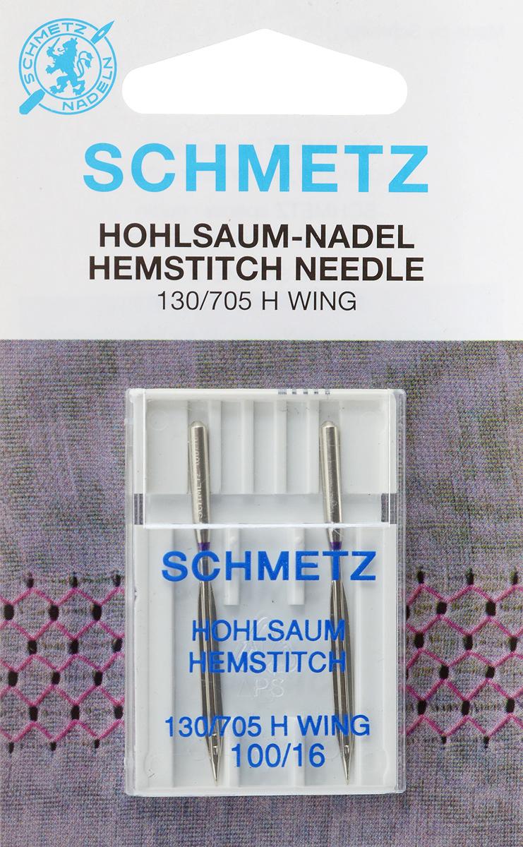Иглы Schmetz для машинной вышивки в технике мережка, №100, 2 шт22:20.2.DESСпециальные иглы Schmetz, выполненные из никеля, подходят для бытовых вышивальных машин всех марок. Иглы предназначены для выполнения вышивки в технике мережка на велюре. Каждая игла имеет цветовой код. В комплекте пластиковый футляр для переноски и хранения. Система иглы: 130/705 H WING. Номер иглы: 100/16.
