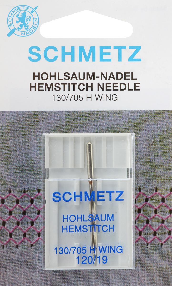 Игла Schmetz для машинной вышивки в технике мережка, №12022:20.2.SGSСпециальная игла Schmetz, выполненная из никеля, подходит для бытовых вышивальных машин всех марок. Игла предназначена для выполнения вышивки в технике мережка на велюре. Имеет цветовой код. В комплекте пластиковый футляр для переноски и хранения. Система иглы: 130/705 H WING. Номер иглы: 120/19.