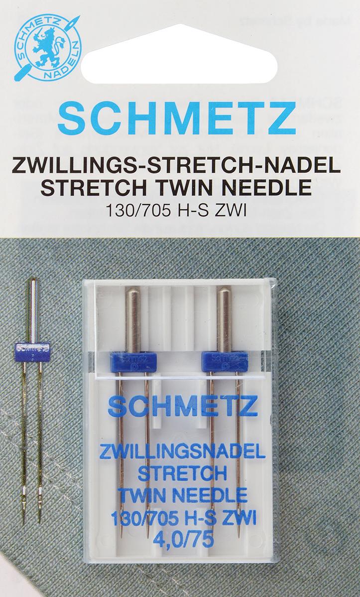 Иглы для бытовых швейных машин Schmetz, для трикотажа, двойные, №75, 4 мм, 2 шт69:40.FB2.DMSСпециальные двойные иглы Schmetz, выполненные из никеля, подходят для бытовых швейных машин всех марок. Они предназначены для декоративной отделки и выполнения защипов на всех трикотажных материалах, а также для подшивания низа изделий. В комплекте пластиковый футляр для переноски и хранения. Система игл: 130/705 H-S ZWI. Номер иглы: 75. Расстояние между иглами: 4 мм.