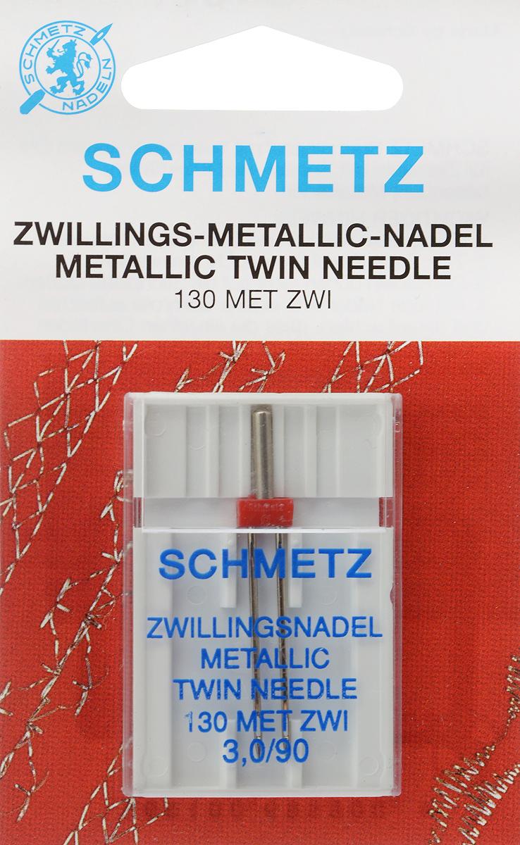 Игла для машинной вышивки Schmetz, для металлизированных нитей, двойная, №90, 3 мм64:30 2 SDSСпециальная игла Schmetz, выполненная из никеля, подходит для бытовых вышивальных машин всех марок. Игла предназначена для вышивания металлизированными нитями. В комплекте пластиковый футляр для переноски и хранения. Система иглы: 130 MET ZWI. Номер иглы: 90. Расстояние между иглами: 3 мм.