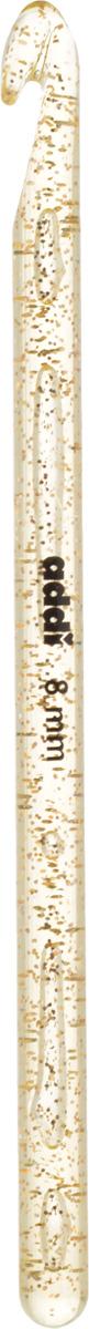 Крючок для вязания Addi, диаметр 8 мм, длина 15 см445-7/8-15Крючок для вязания Addi выполнен из высококачественного пластика с золотистыми частицами. Гладкая поверхность позволяет ему виртуозно скользить внутрь петель и обратно. При вязке не выскальзывает. На изделие нанесены фирменная надпись и размеры в миллиметрах стойкой краской. Крючок предназначен для вязания и плетения из ниток, ручного изготовления полотна. Его применяют как для изготовления одежды целиком, так и отделочных элементов одежды или украшений. Вы сможете вязать для себя и делать подарки друзьям. Работа, сделанная своими руками, долго будет радовать вас и ваших близких.
