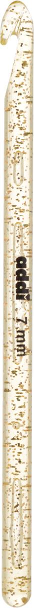 Крючок для вязания Addi, пластиковый, диаметр 7 мм, длина 15 см445-7/7-15Крючок для вязания Addi выполнен из высококачественного пластика с золотистыми частицами. Гладкая поверхность позволяет ему виртуозно скользить внутрь петель и обратно. При вязке не выскальзывает. На изделие нанесены фирменная надпись и размеры в миллиметрах стойкой краской. Крючок предназначен для вязания и плетения из ниток, ручного изготовления полотна. Его применяют как для изготовления одежды целиком, так и отделочных элементов одежды или украшений. Вы сможете вязать для себя и делать подарки друзьям. Работа, сделанная своими руками, долго будет радовать вас и ваших близких.