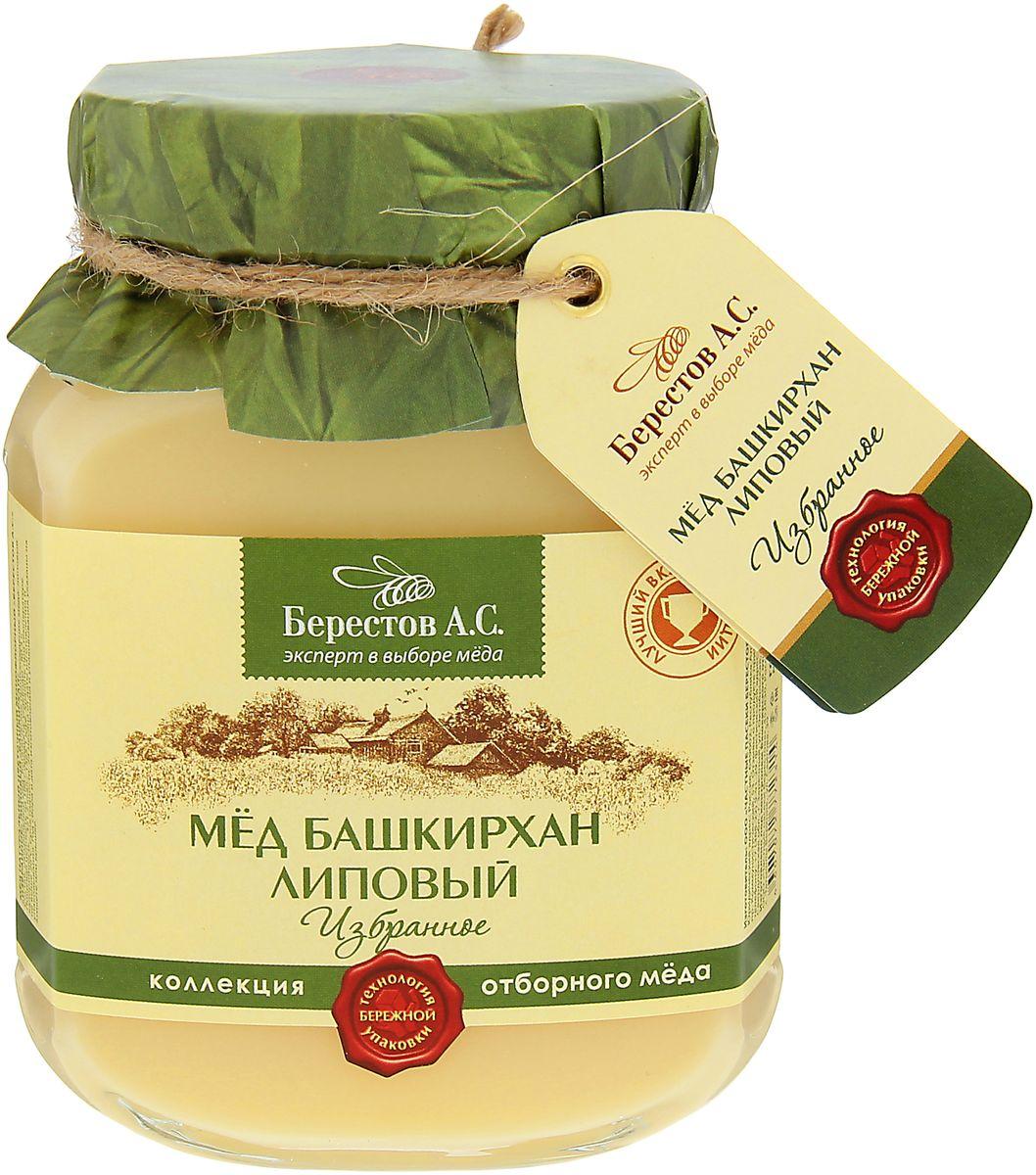 """Для коллекции «Избранное» нашими экспертами отобраны исключительно премиальные сорта мёда, обладающие уникальным характером и многогранным вкусом. Каждый урожай мёда неповторим и мы предлагаем вам только самое лучшее из коллекции этого года. Мед Башкирхан Липовый из коллекции """"Избранное"""". Нежный липовый мед – подлинная жемчужина коллекции, щедрый дар медоносных долин Великой Степи. Изысканный и сложный букет этого сорта отличает пикантное сочетание липы, ванили и спелого абрикоса, а роскошный ликёрный вкус украшают многослойные оттенки апельсина, чайной розы и белого вина с легким мятным послевкусием. Высокое качество, проверенная годами и положительно зарекомендовавшая себя многоступенчатая система отбора мёда для коллекции «Избранное» гарантирует высочайшее качество натурального меда «Берестов А.С.» и соответствие всем требованиям ГОСТ. Мёд «Берестов А.С.» получил заслуженное признание ценителей и экспертов. Это подтверждено многочисленными наградами крупнейших..."""