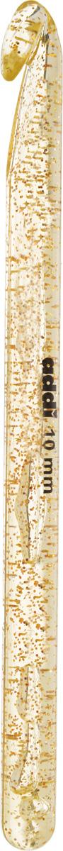 Крючок для вязания Addi, диаметр 10 мм, длина 15 см445-7/10-15Крючок для вязания Addi выполнен из высококачественного пластика с золотистыми частицами. Гладкая поверхность позволяет ему виртуозно скользить внутрь петель и обратно. При вязке не выскальзывает. На изделие нанесены фирменная надпись и размеры в миллиметрах стойкой краской. Крючок предназначен для вязания и плетения из ниток, ручного изготовления полотна. Его применяют как для изготовления одежды целиком, так и отделочных элементов одежды или украшений. Вы сможете вязать для себя и делать подарки друзьям. Работа, сделанная своими руками, долго будет радовать вас и ваших близких.