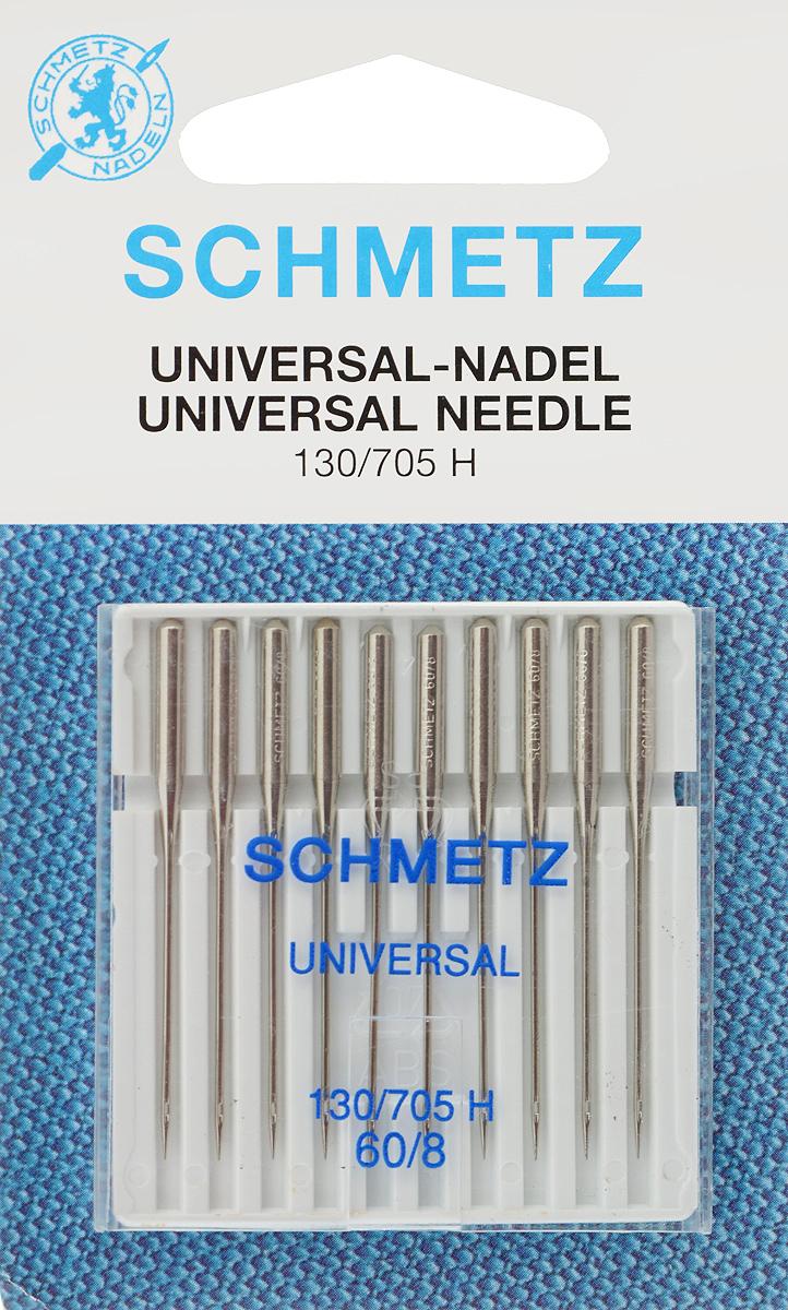 Иглы для бытовых швейных машин Schmetz, универсальные, №60, 10 шт22:15.2.XASУниверсальные иглы Schmetz, выполненные из никеля, подходят для бытовых швейных машин всех марок. В набор входят универсальные иглы, которые идеально подходят для всех тканых материалов. Иглы имеют небольшой закругленный кончик, что делает их универсальными в использовании с различными видами тканей. В комплекте пластиковый футляр для переноски и хранения. Система универсальных игл: 130/705 H. Номера игл: 60/8.